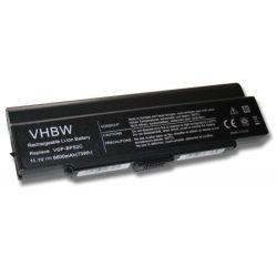 Sony Vaio VGN-FJ290L1L, VGN-FJ290L1R Laptop akkumulátor - 6600mAh (11.1V Fekete)