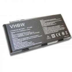 Medion Erazer MD98316, X6811 Laptop akkumulátor - 6600mAh (11.1V Fekete)