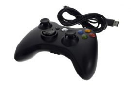 Xbox 360 / PC vezetékes kontroller - fekete