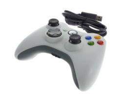 Xbox 360 / PC vezetékes kontroller - fehér