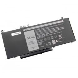 Dell Latitude E5450, E5550 Laptop akkumulátor - 6800mAh (7.4V Fekete)