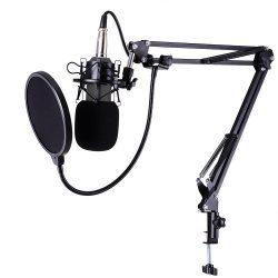 Streaming Mikrofon és Állványkészlet