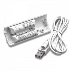 Nintendo Wii Remote kontroller akkumulátor + USB kábel - 400mAh fehér